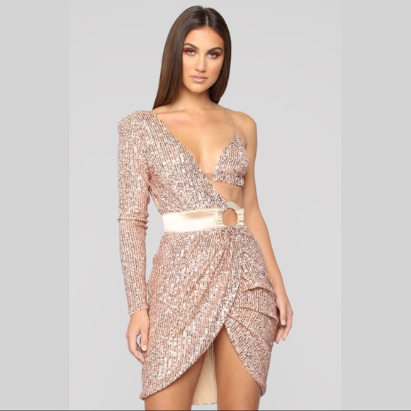 4baa2b7a04788 Fashion Nova Dresses | Epic Nights One Shoulder Sequin Dress Nwt ...